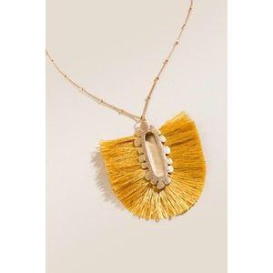 NWT Angelica Tassel Pendant Necklace